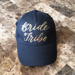 "Accessories - ""Bride Tribe"" black and gold baseball cap"